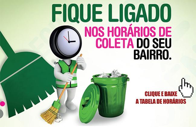 HORÁRIO COLETA DE LIXO SELETIVO BRASÍLIA